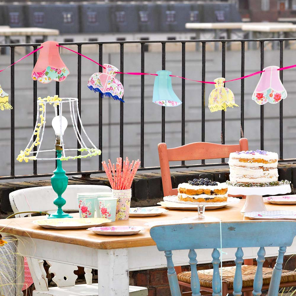 Tea Party Lampshade Garland