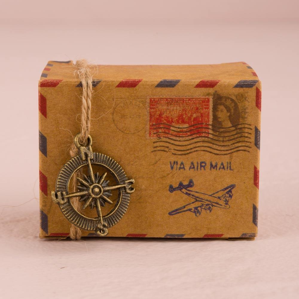 Vintage Airmail Favour Box Kit x 10