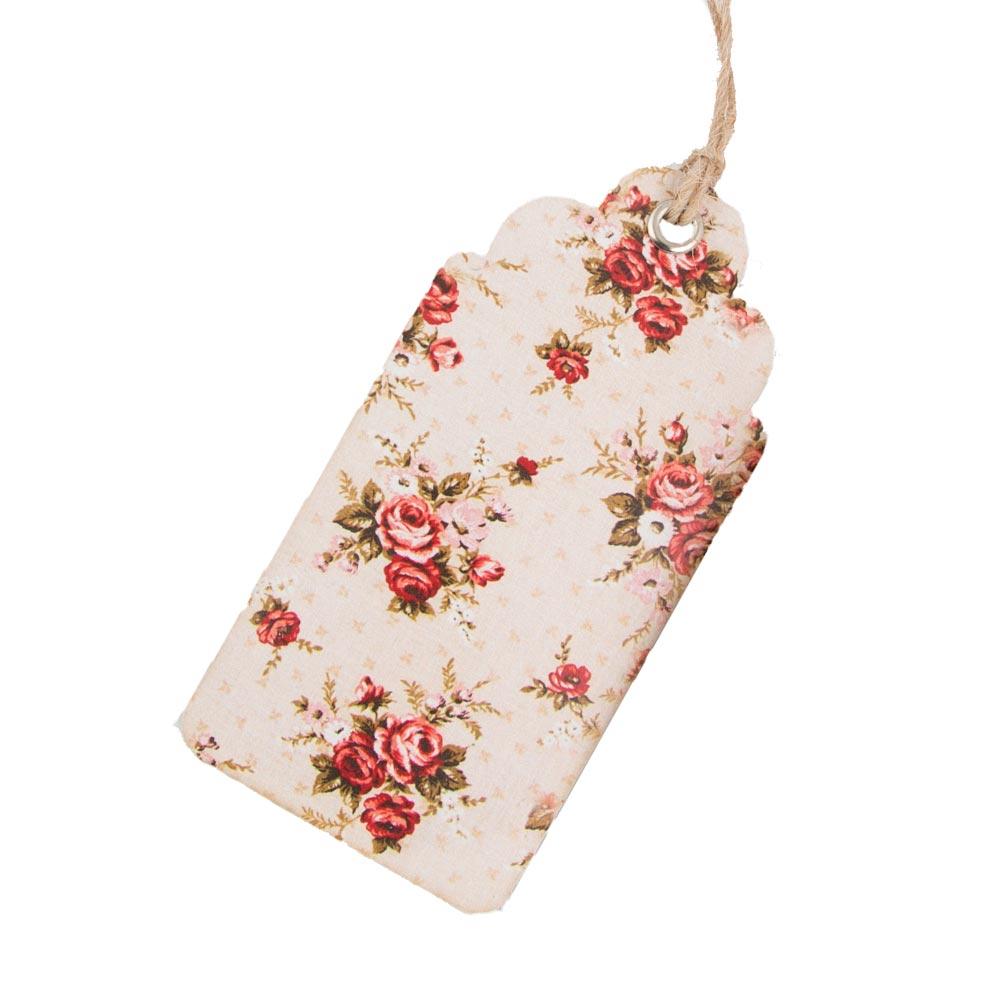 Vintage Floral Luggage Tags