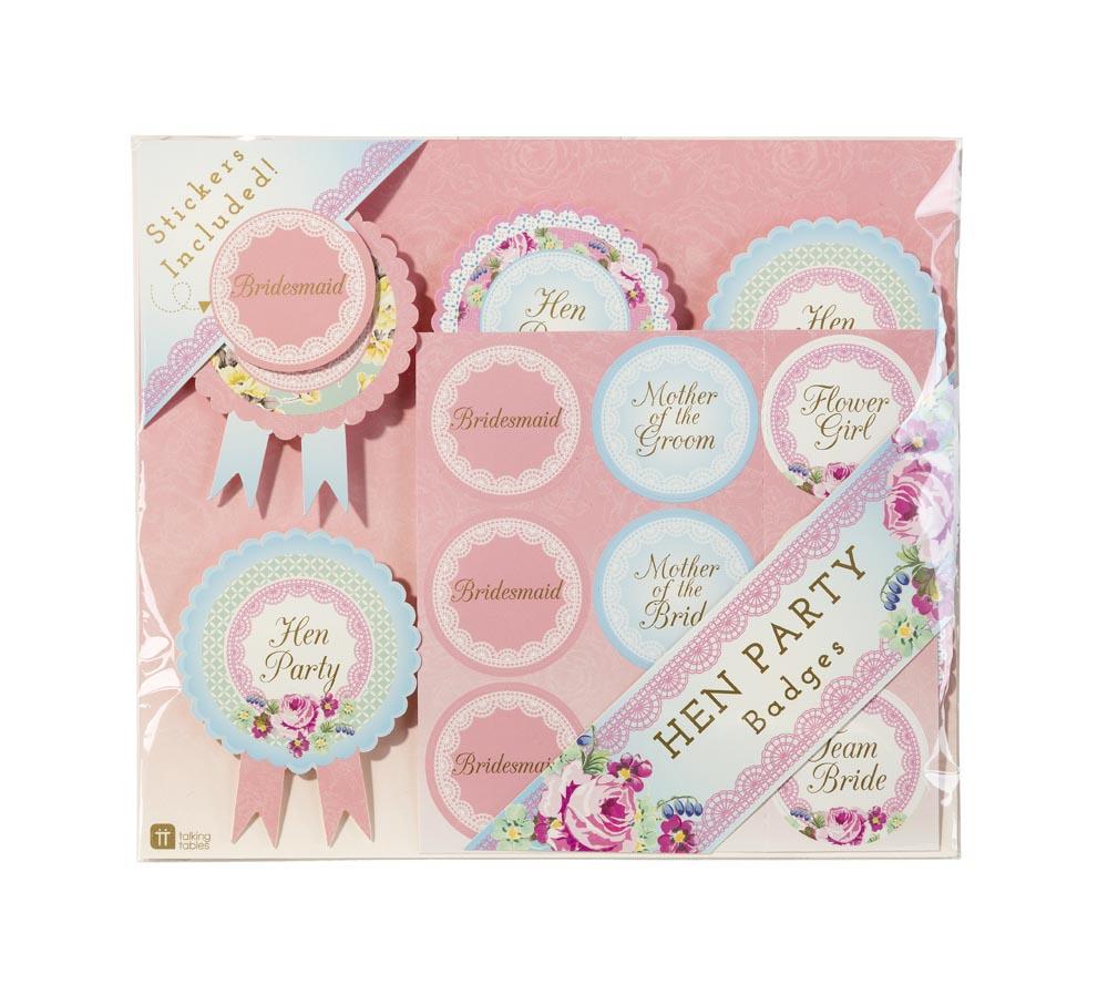 Vintage Hen Party Rosette Badges