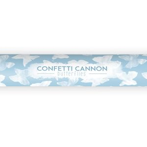 White Butterfly Confetti Cannon