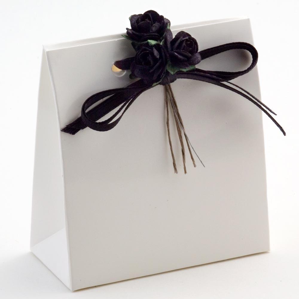 White Glossy Sacchetto Favour Box
