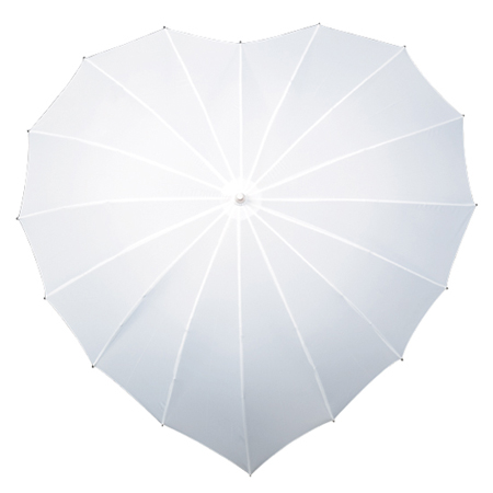 Heart Umbrellas - White