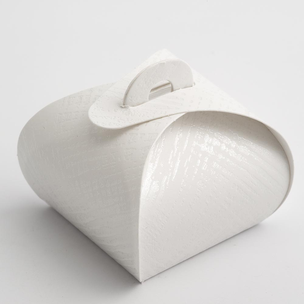White Linen Tortina Favour Box