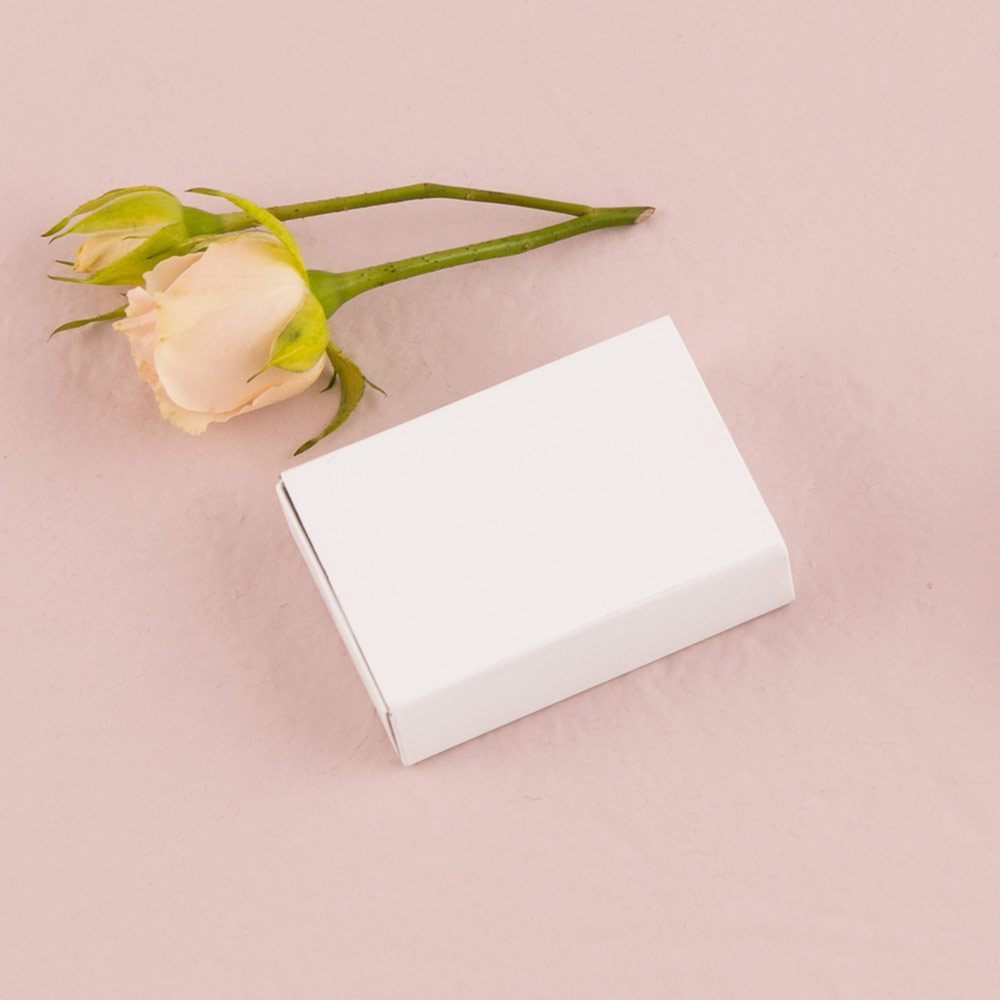 White Matchbox Favour Boxes x 8
