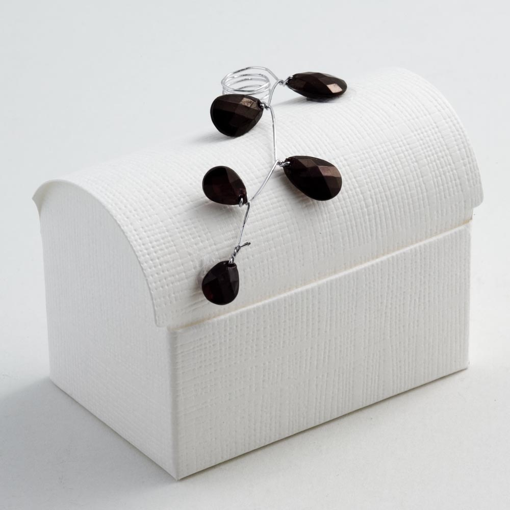 White Silk Cofanetto Favour Box