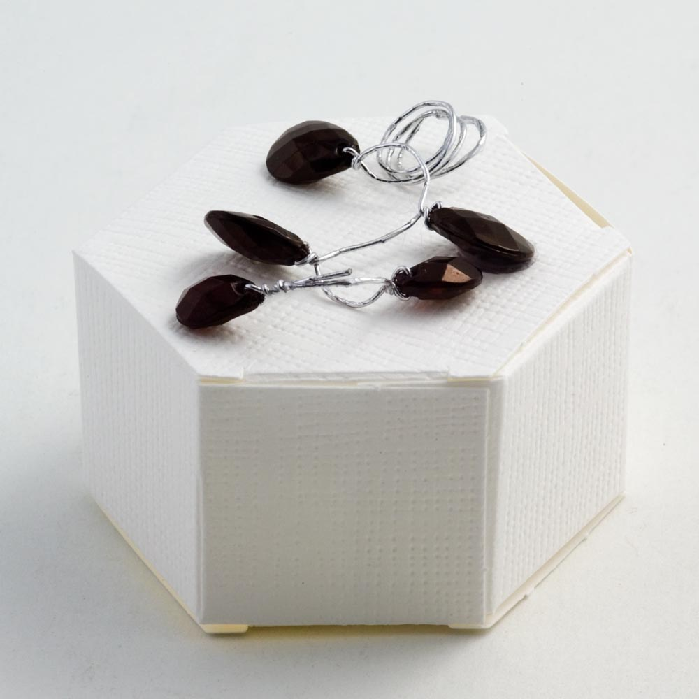 White Silk Hexagonal Favour Box