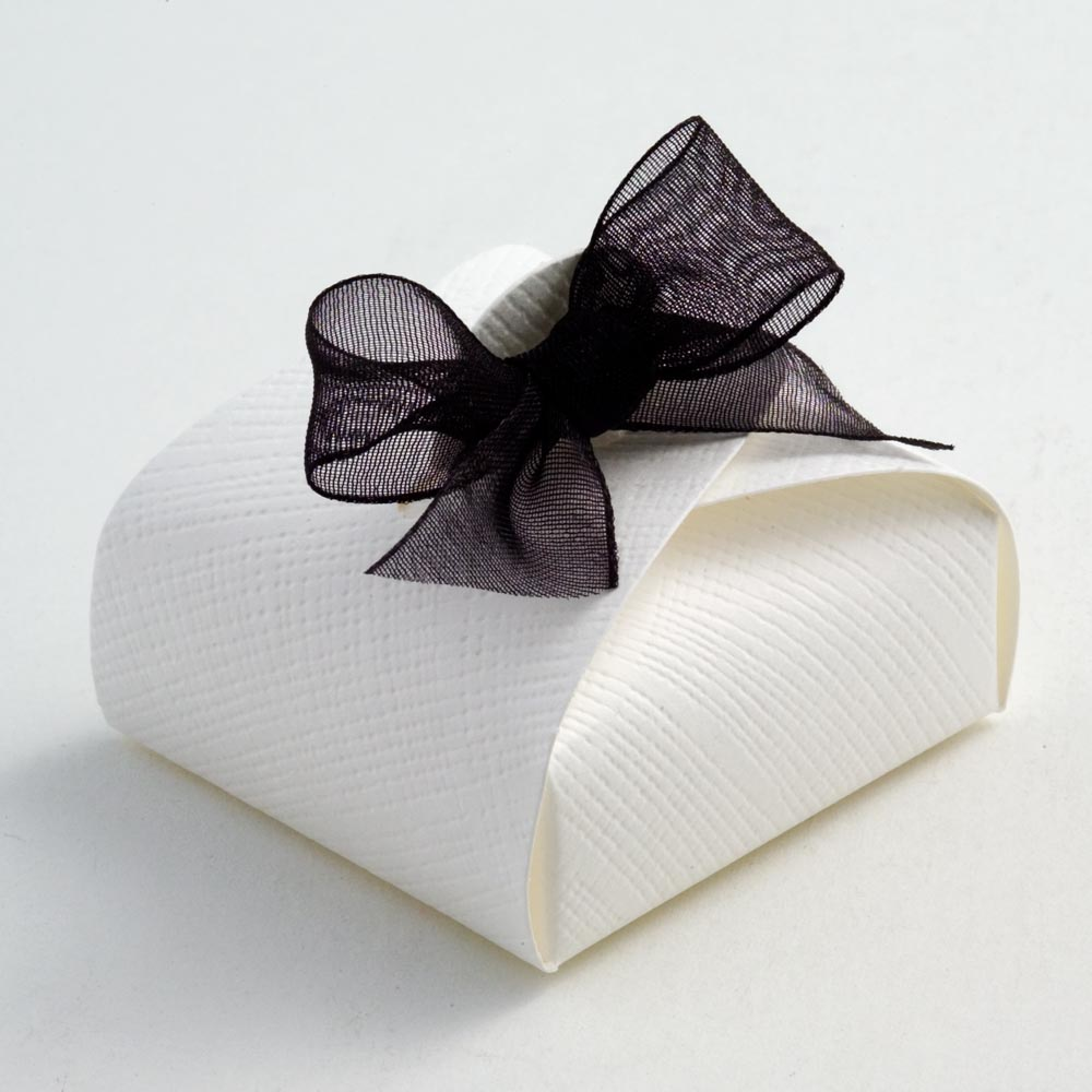 White Silk Mini Astuccio Favour Box