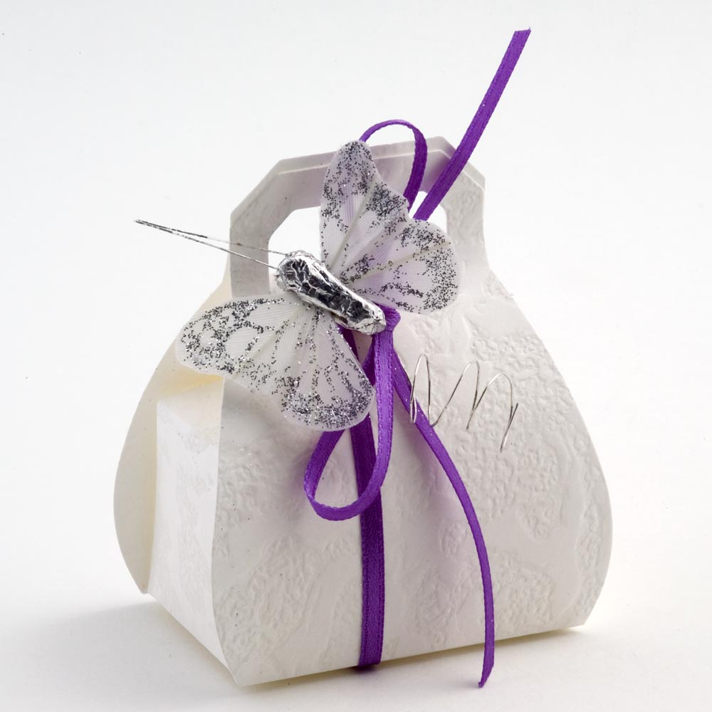 White Sorgente Handbag Favour Box