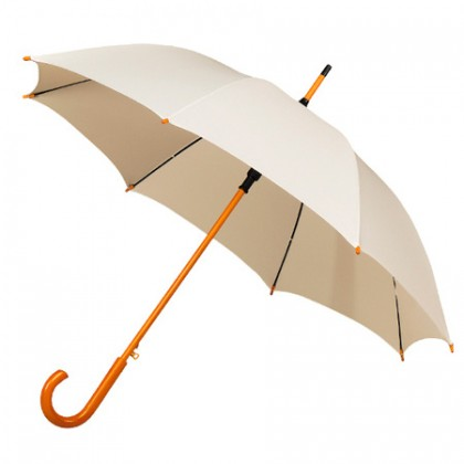 Wooden Stick Umbrella - Ivory