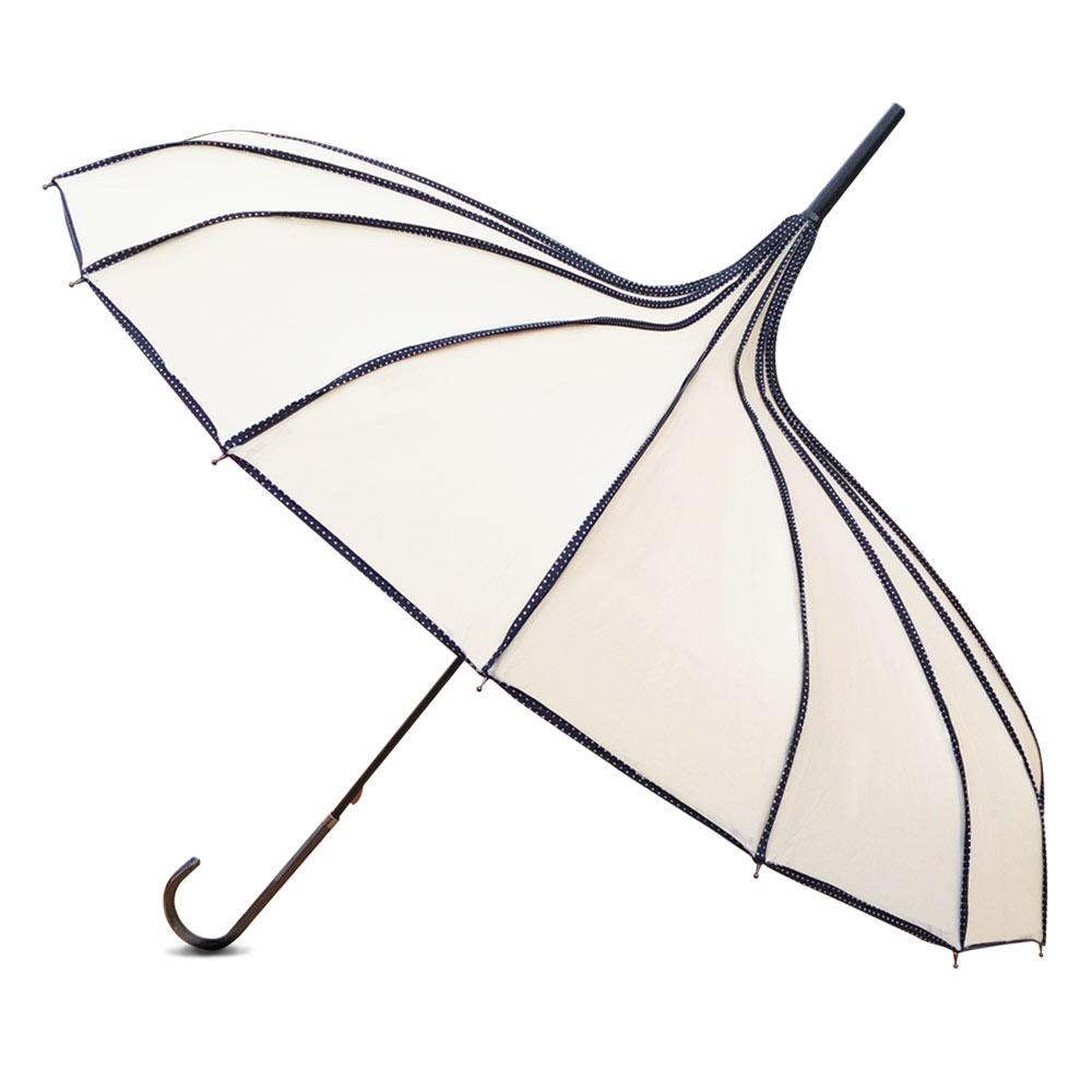 Ribbed Ivory Pagoda Umbrella