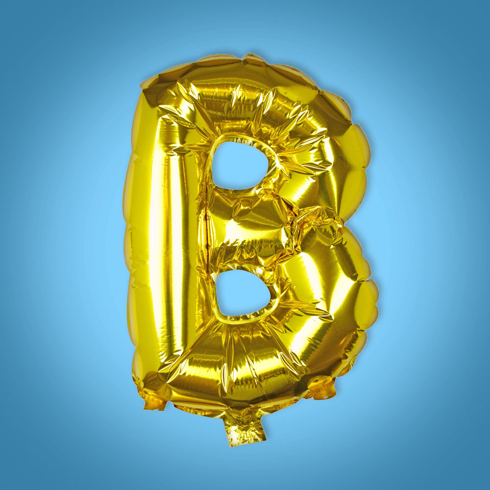 Gold Foil Letter 'B' Balloon