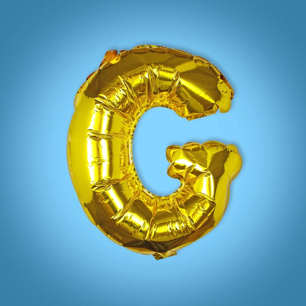 Gold Foil Letter 'G' Balloon