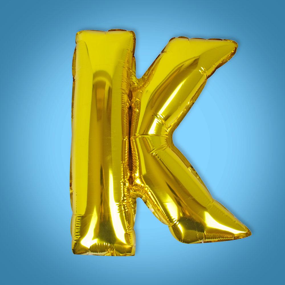 Gold Foil Letter 'K' Balloon
