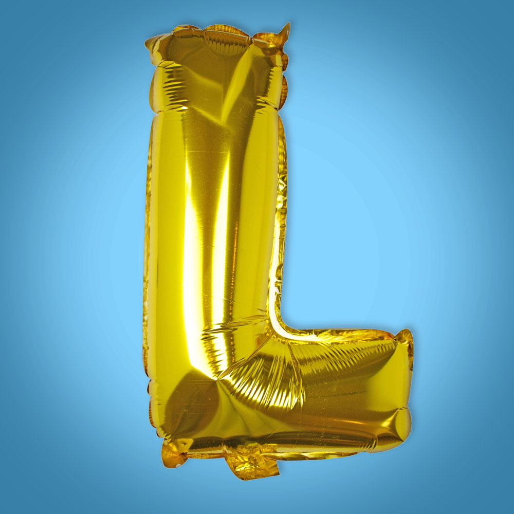 Gold Foil Letter 'L' Balloon