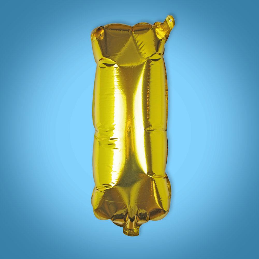 Gold Foil Letter 'I' Balloon