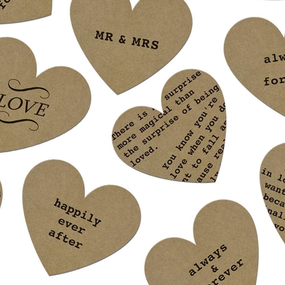 Kraft Heart Table Confetti