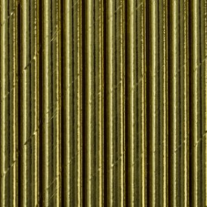 Metallic Gold Foil Paper Straws