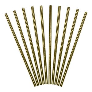 Metallic Gold Foil Paper Straws