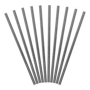 Metallic Silver Foil Paper Straws