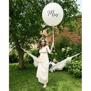 1 Metre White 'Mr' Giant Balloons