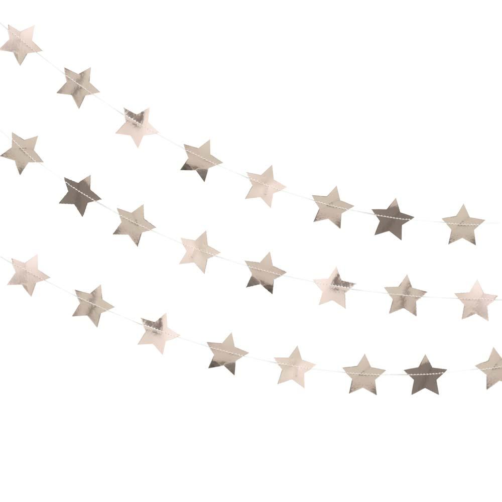 Rose Gold Star Garland