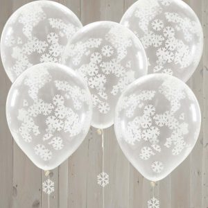 Snowflake Shaped Confetti Balloons