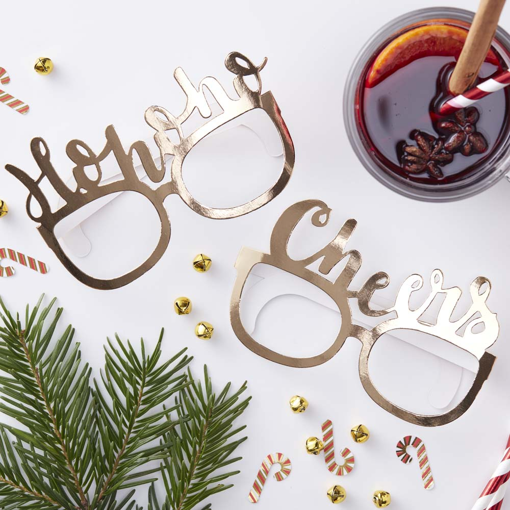 Gold Foiled Festive Funglasses