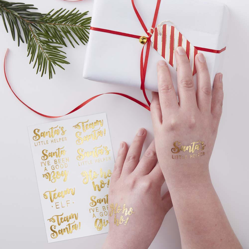 Gold Foiled Festive Tattoos