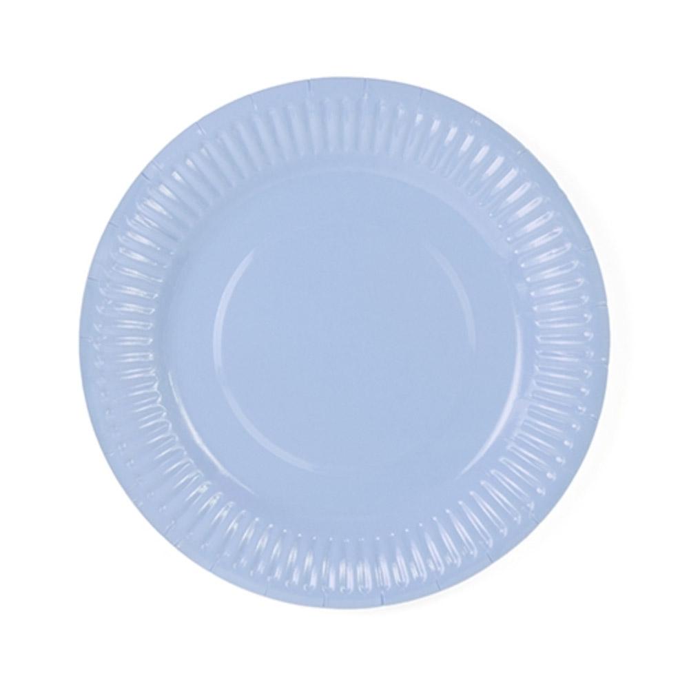 Pale Blue Paper Plates