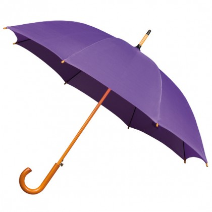 Wooden Stick Umbrella - Purple