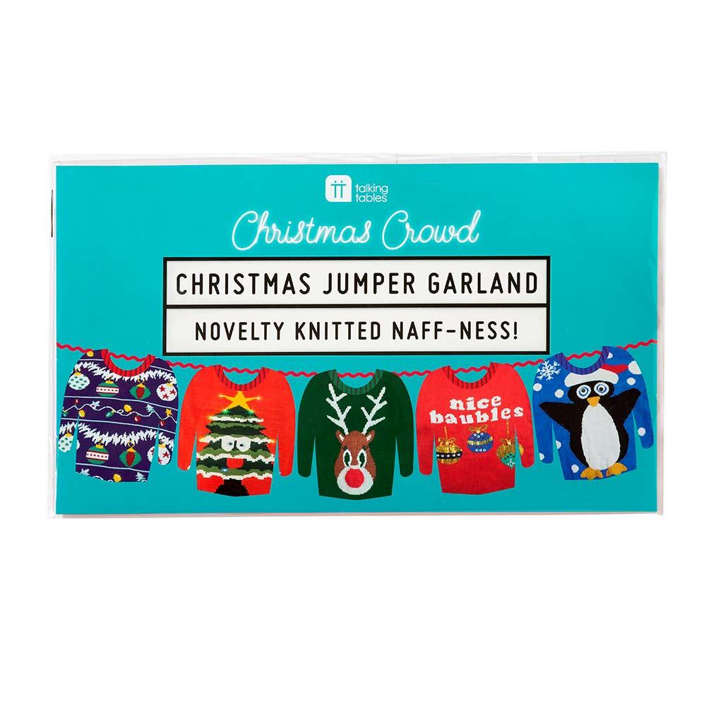 Funny Christmas Jumper Garland