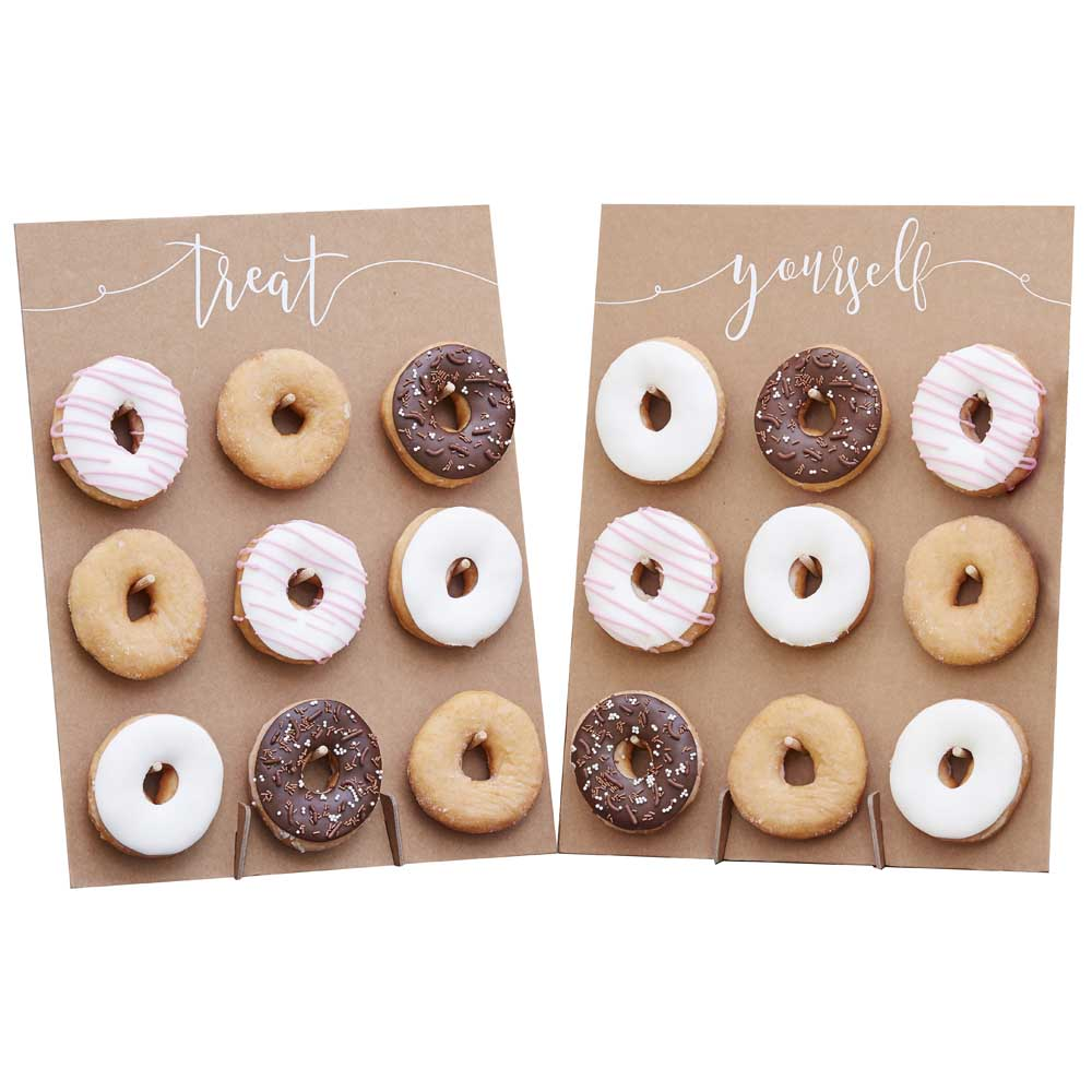 Rustic Donut Wall - Cake Alternative