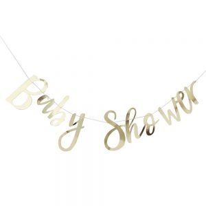 Gold Foiled Baby Shower Bunting