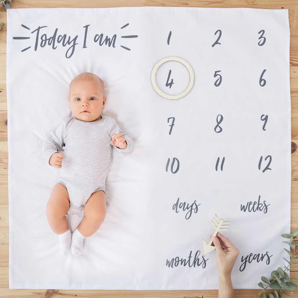 Baby Milestone Blanket Keepsake