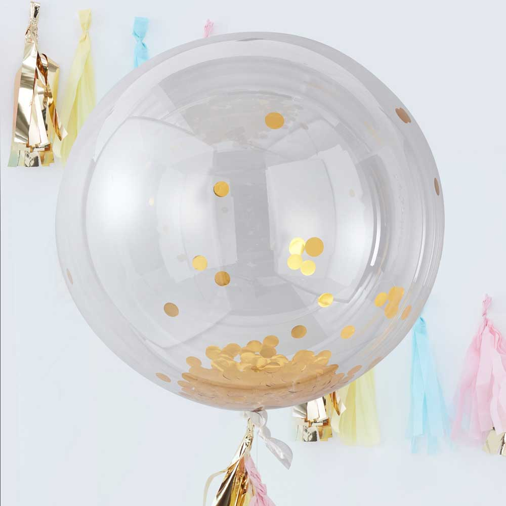 Giant Gold Confetti Orb Balloons