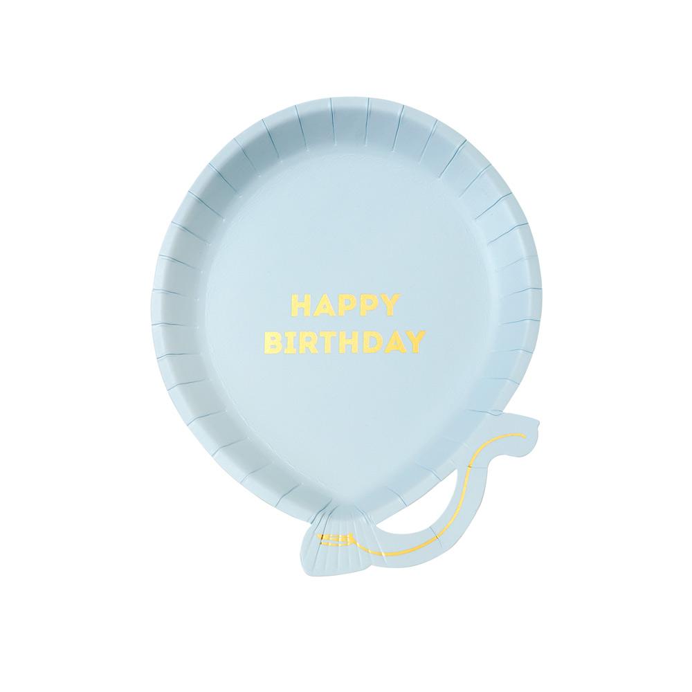 Blue Balloon Birthday Plates