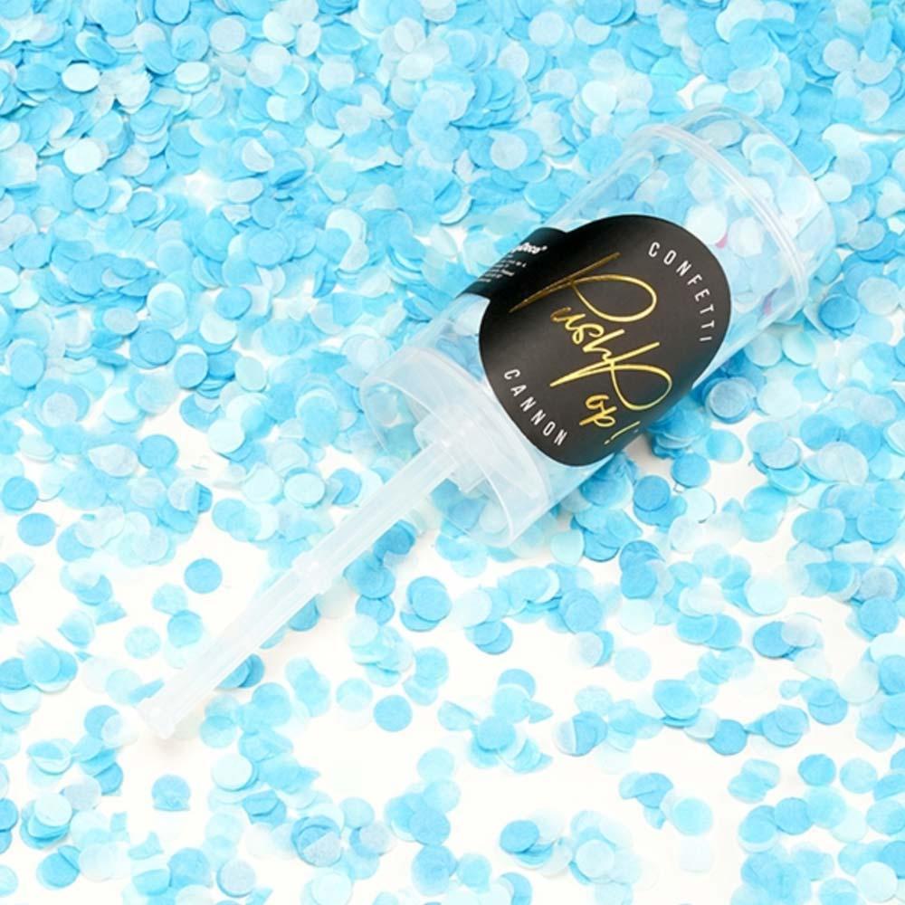 Blue Confetti Push Pops x 12