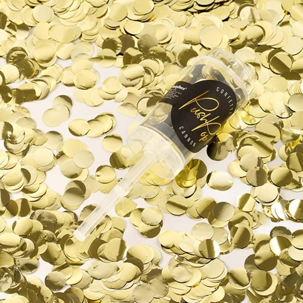 Gold Confetti Push Pops x 12