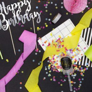 Multi Coloured Confetti Push Pops x 12