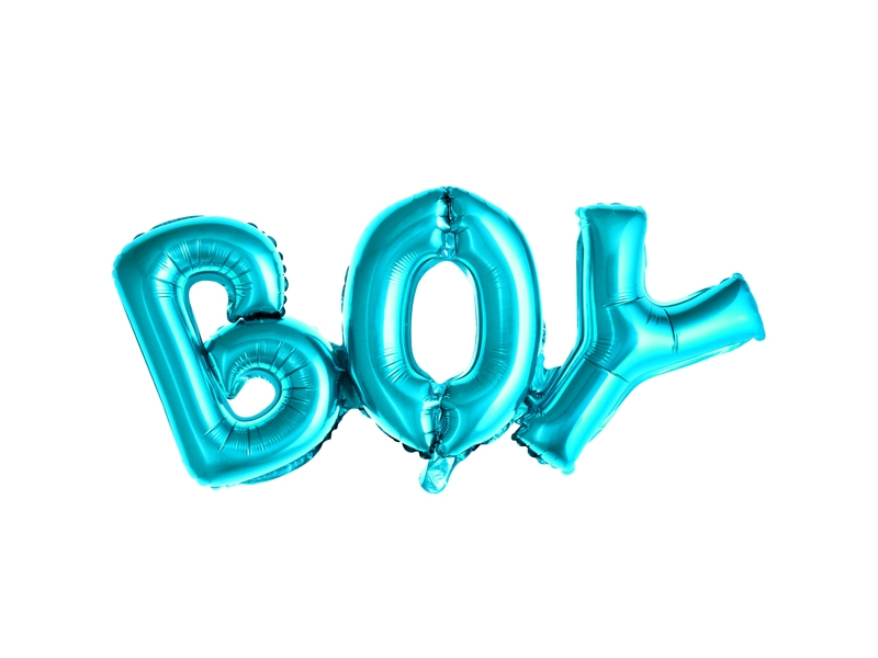 Blue Foiled Boy Balloon