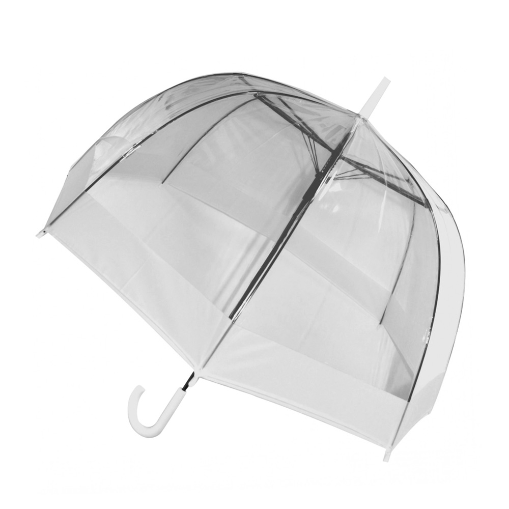 Clear Dome Umbrella with White Band