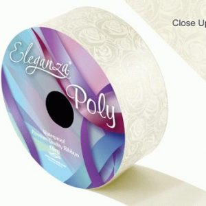 Ivory Rose Print Wedding Car Ribbon