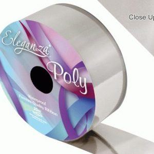 Metallic Silver Wedding Car Ribbon
