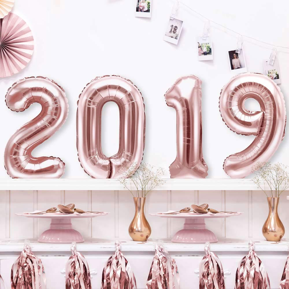 Rose Gold 2019 Foil Balloons