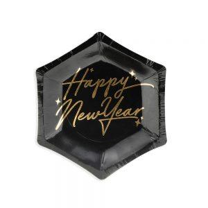 Mini New Year's Eve Black Plates