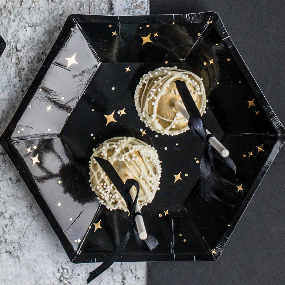 New Year's Eve Black Plates
