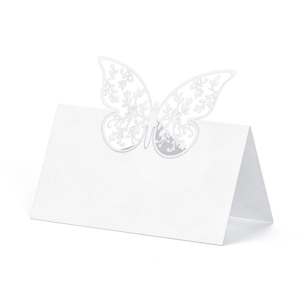 Die Cut Butterfly Place Cards