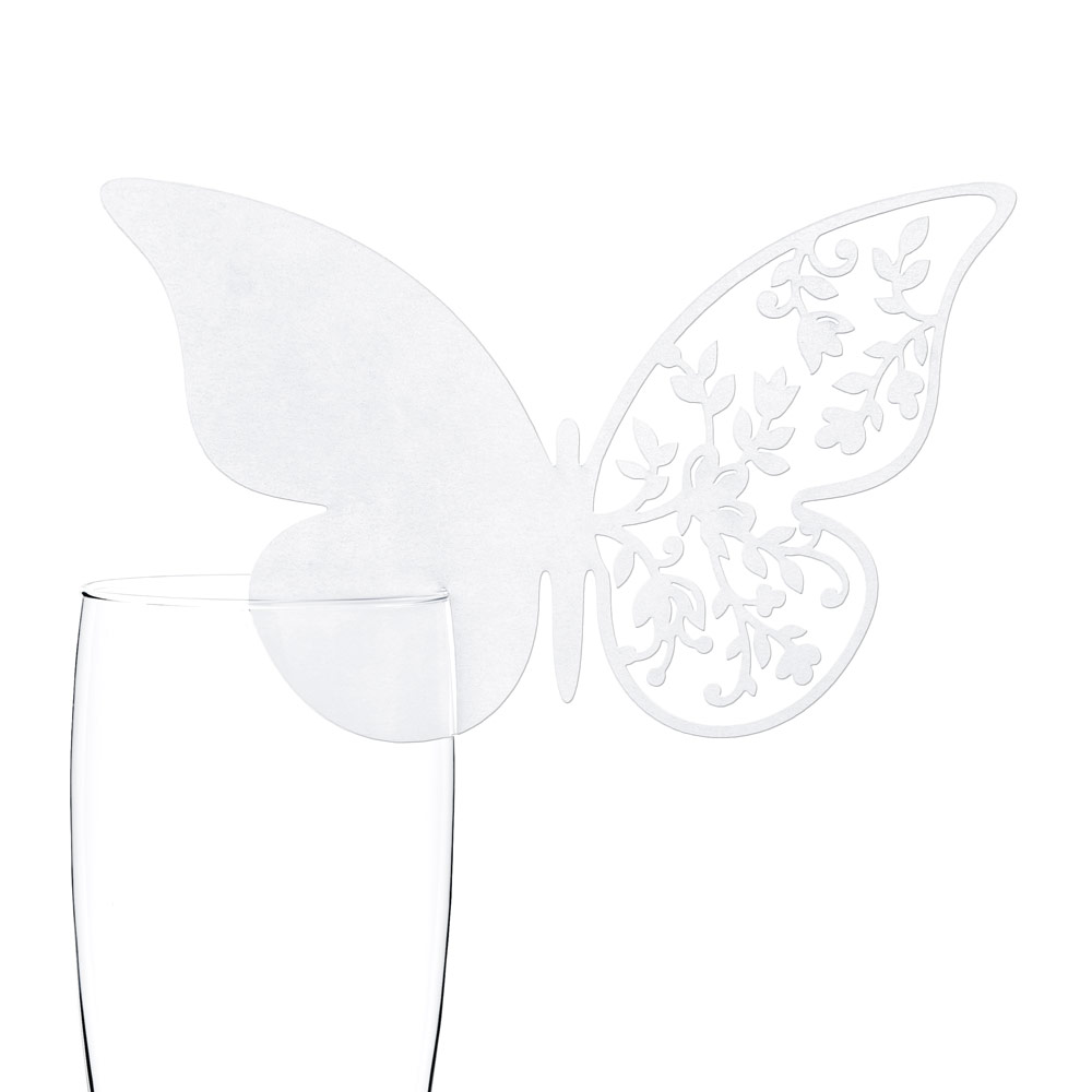 Die Cut Butterfly Glass Place Cards