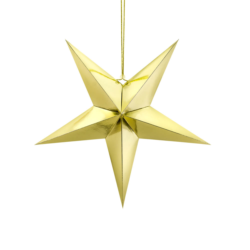 Medium Gold Paper Star 45cm